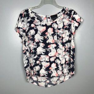 Cynthia Rowley | Blouse | Navy Pink White | Large